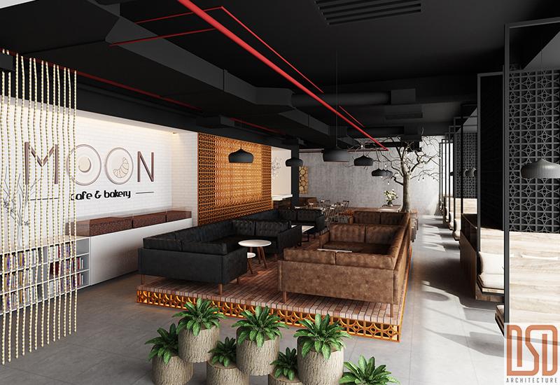 Thiết kế &Thi công & cung cấp nội thất Moon Cofe