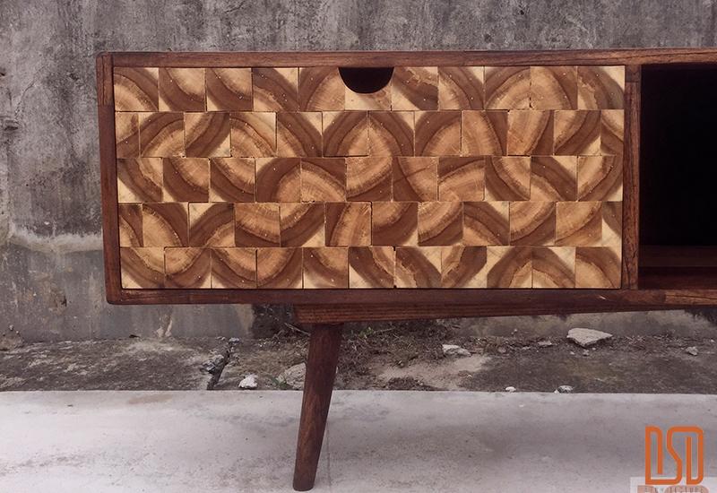 DF07.1 - Kệ tivi gỗ keo Decor