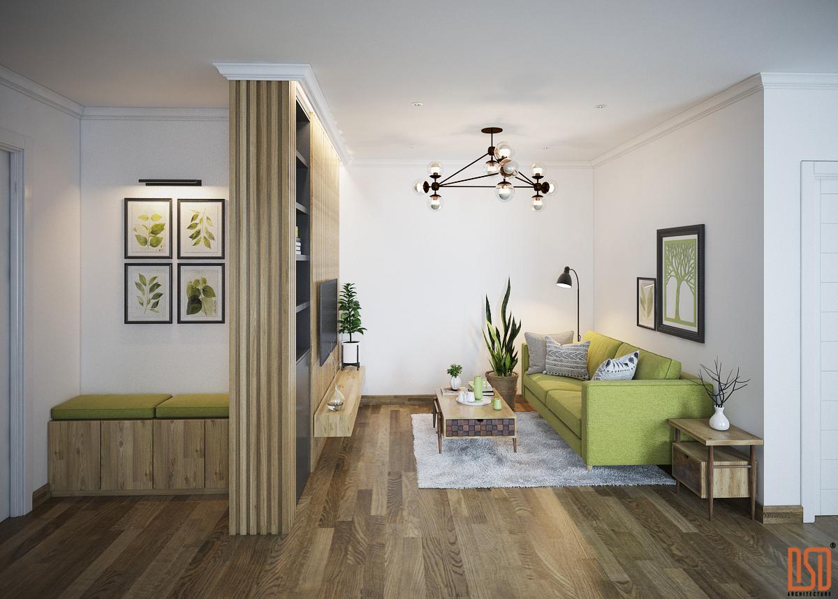Thiết kế nội thất Chung cư Gold Mark