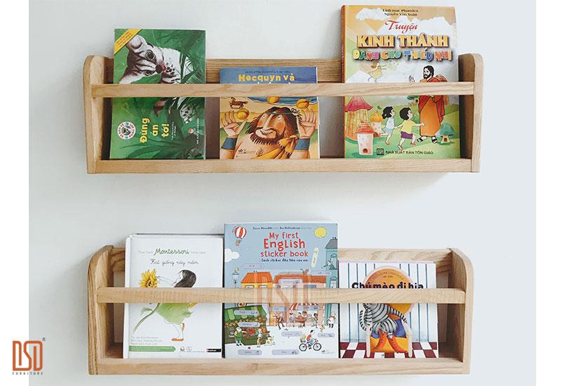 Giá sách treo tường cho bé - Đặt lên tri thức, đặt cả ước mơ
