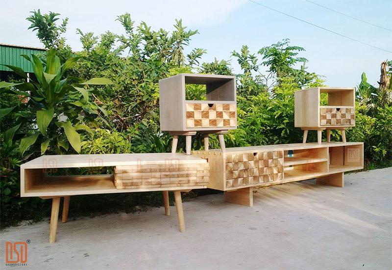 Kệ tivi gỗ sồi