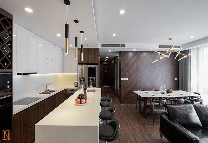 Thiết kế - Thi công nội thất chung cư 140m2 Complex Tower CĐT Mr. Giang