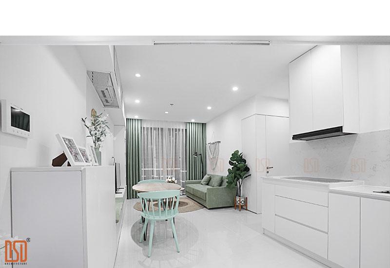 Thiết kế - Thi công nội thất chung cư Vinhomes OceanPark 58m2 Mrs. Hương