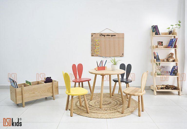Top 4 bộ bàn ghế trẻ em DSDkids đáng mua nhất cho góc học tập của trẻ