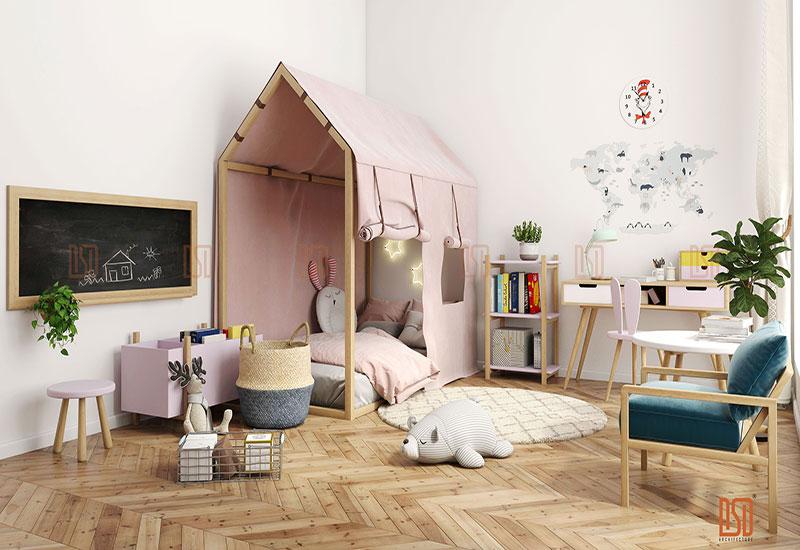 Mẹo sử dụng màu sắc trong trang trí - Tạo điểm nhấn cho phòng của bé